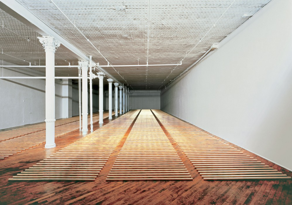 Walter De Maria, The Broken Kilometer, 1979; © The Estate of Walter De Maria, photo by Jon Abbott, courtesy of the Dia Art Foundation