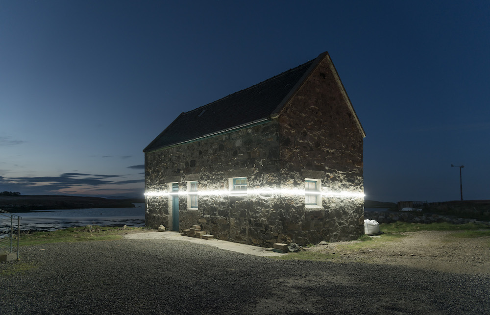 Pekka Niittyvirta and Timo Aho, Lines (57° 59′ N, 7° 16'W), 2018-19, Taigh Chearsabhagh Museum & Arts Centre, image courtesy of Pekka Niittyvirta and Timo Aho
