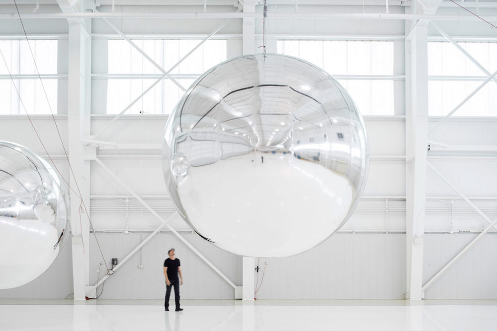 Trevor Paglen, Prototype for a Nonfunctional Satellite (Design 4; Build 4), 2013, mixed media, 16 x 16 x 16 feet; courtesy of Trevor Paglen, Metro Pictures, New York; Altman Siegel, San Francisco; © Trevor Paglen