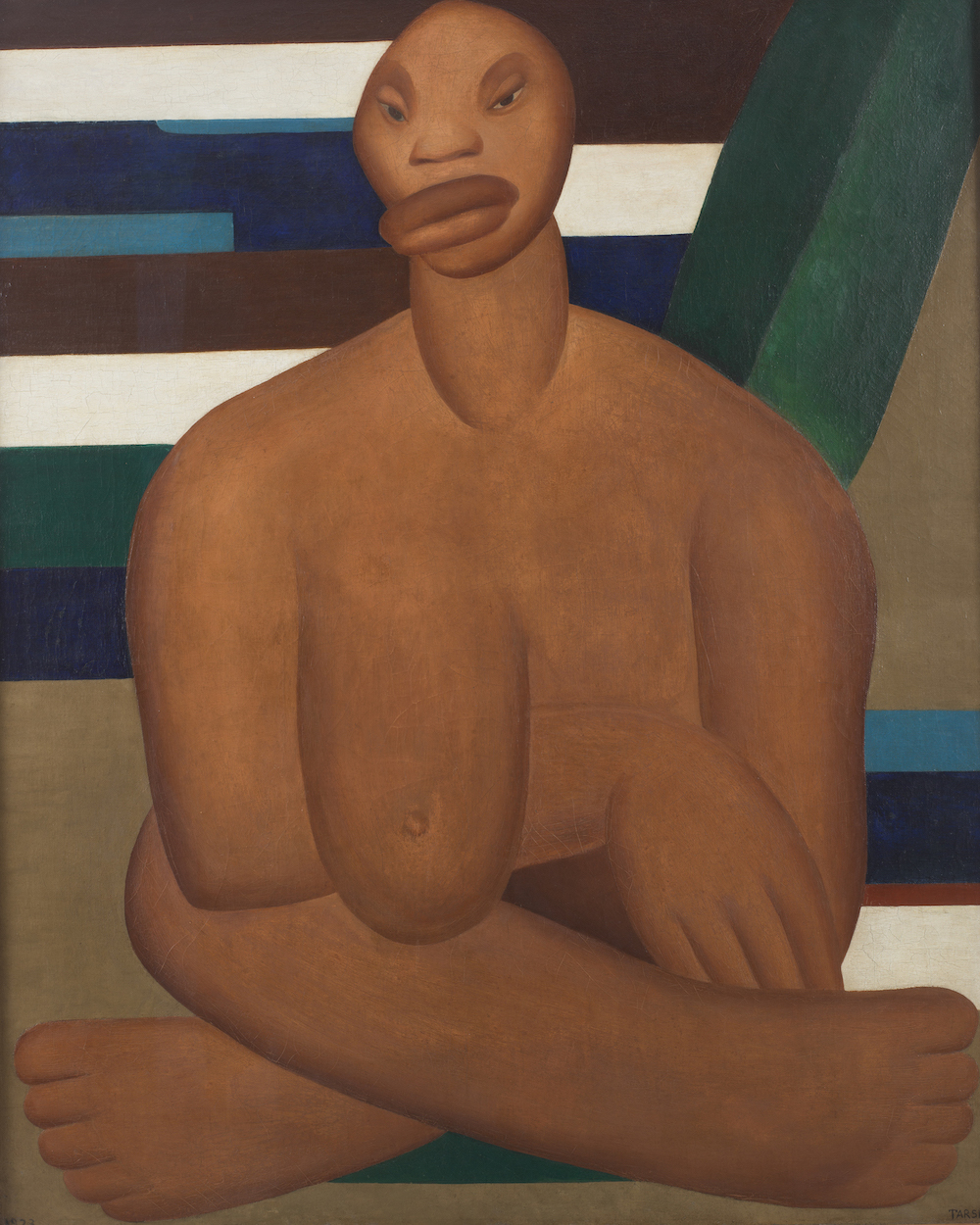 Tarsila do Amaral, A Negra, 1923, oil on canvas, Museo de Arte Contemporânea de Universidade de São Paulo, © Tarsila do Amaral Licenciamentos