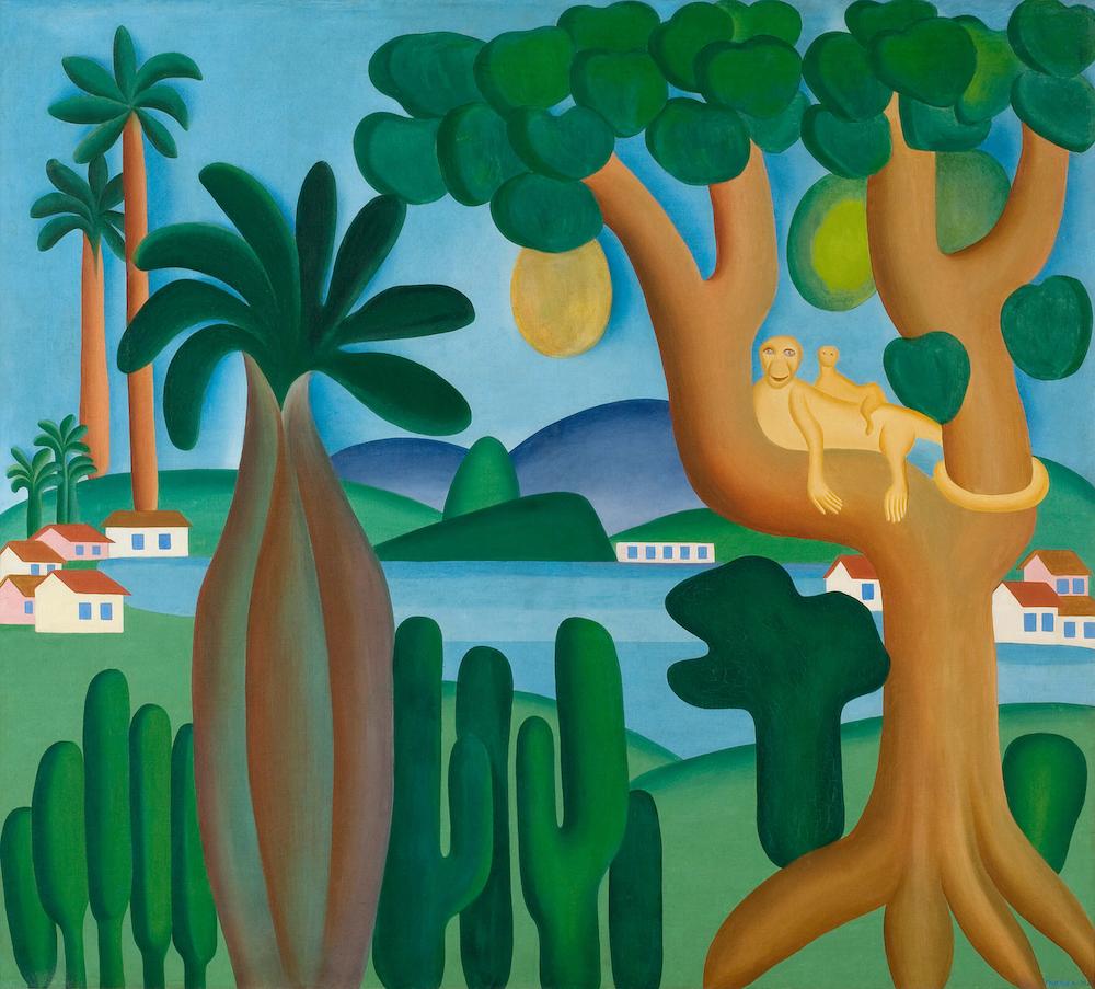 Tarsila do Amaral, Cartão postal, 1929, oil on canvas, coleção particular, Rio de Janeiro